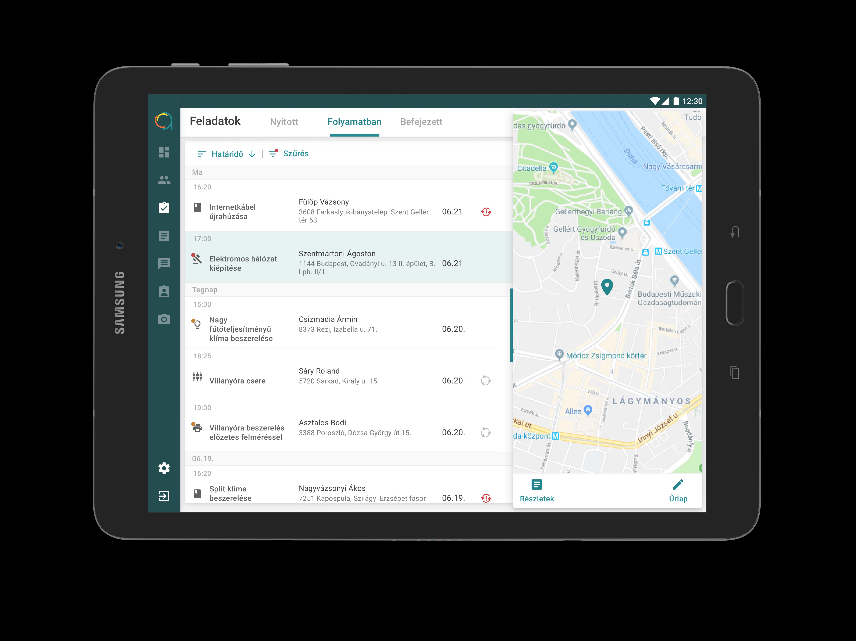 Tablet - front - tasklist
